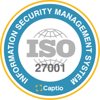 Certification under security standard ISO/IEC 27001.